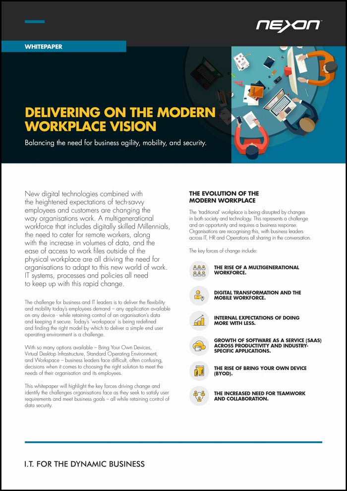 Nexon Whitepaper: Delivering on the Modern Workplace Vision