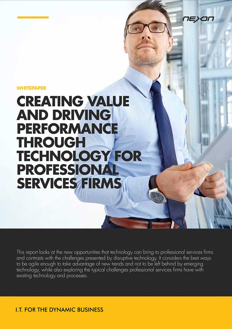 Whitepaper - Creating value and driving performance through technology for professional services firms