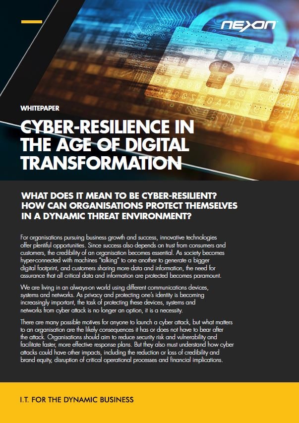 Cyber-resilience in the age of digital transformation.