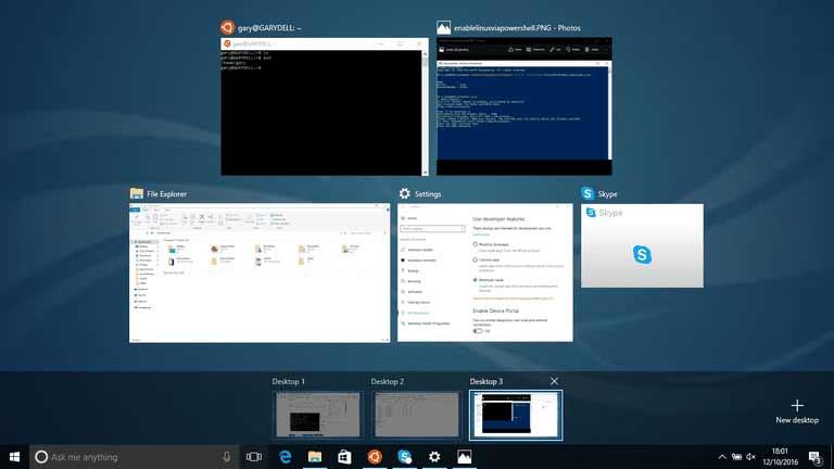 Windows 10 virtual desktop
